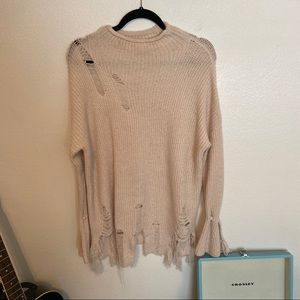 Sweaters - Distressed sweater SIZE M